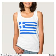 Greece, flag basic tank top