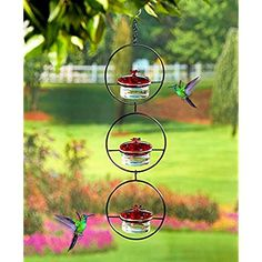 The Lakeside Collection Glass Hummingbird Feeder