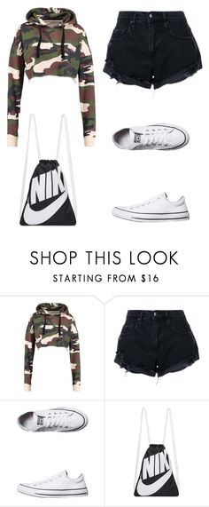 """Untitled #5"" by nesiv ❤ liked on Polyvore featuring Nobody Denim, Converse and NIKE"