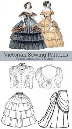 Find Victorian sewing patterns at VintageDancer.com  Victorian sewing patterns, by Truly Victorian, are some of the best available.