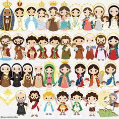 36 Saints clipart bundle baby saints clipart little saints