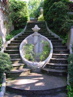 Staircase at Dumbarton Oaks Garden, Washington DC