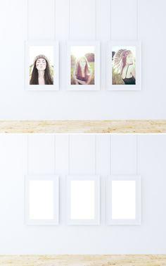 Triple Poster Frame Mockup | Graphic Twister Photorealistic Mockups