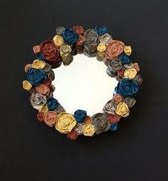 Small+Paper+Rose+Spring+Mirror+by+ArtbyArtmanda+on+Etsy,+$40.00 nice