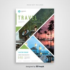 Brochure Vectors, Photos and PSD files Graphic Design Flyer, Design Brochure, Travel Brochure, Flyer Design, Graphic Design Inspiration, Free Brochure, Buch Design, Graphisches Design, Design Ideas