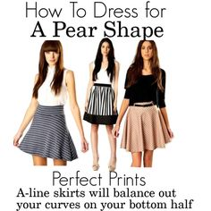 How To Dress For A Pear Shape by boohoo on Polyvore featuring Boohoo and a-line skirts