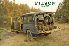 Jeep Steel Wagon used in classic Filson ad