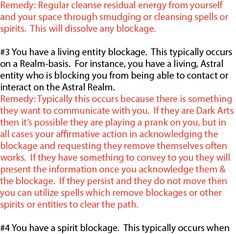 Removing blockages