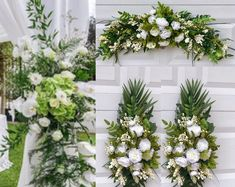 Wedding Accessories,Bridal Accessories,Wedding Decor by BellasBloomStudio Altar Decorations, Wedding Decorations, Wedding Ideas, Diy Wedding, Wedding Blog, Floral Wedding, Rustic Wedding, Wedding Flowers, Greenery Centerpiece