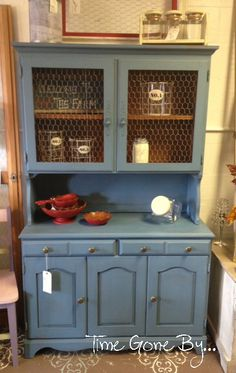 Vintage Furniture Paint in French Blue Maison Blanche Paint Co. Just bought this color for my night stand. Now what kind of wax?