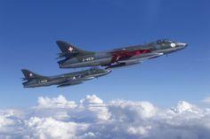 Hawker Hunter F 58 Fighters - hawker hunter, bae, f58, swiss air force, switzerland, british aerospace