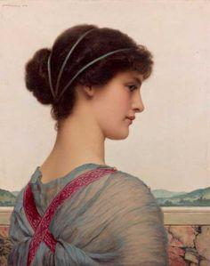 Godward, 'Bellezza classica' 1908, Olio su tela ,51 x 40,9 cm. Messico, Collezione Pérez Simón © Studio Sebert Photographes
