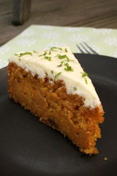 Carrot & apple cake. Great recipe, moist cake with a few extra nutrients for the kids. Recipe includes frosting, but cake is very tasty on its own.