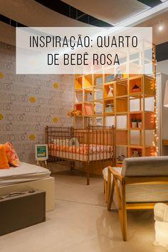 Um quarto de bebê que é rosa e a gente amou! // Quarto de bebê rosa e nada clichê! ambientes na cor rosa  // palavras-chave: faça você mesma, DIY, inspiração, decoração, pintura, cor, paleta, cinza, quarto, grafismo, morar mais, quarto de criança, quarto de bebê, rosa, amarelo, pisca-pisca, quarto de adolescente, mostra, inspiração