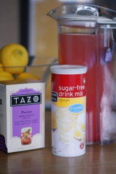 Homemade Starbucks Passion Tea Lemonade - 0 Points Plus
