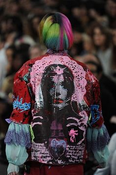 London Womenswear S/S 11 Meadham Kirchhoff - SHOWstudio - Fashion Details, Look Fashion, Fashion Design, Festival Fashion, Festival Style, Meadham Kirchhoff, Textile Fabrics, Japanese Street Fashion, Designer Collection