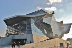 Musée des Confluences Architects_ms by architects_ms Lyon France, France Europe, Facade Architecture, Beautiful Architecture, Confluence Lyon, Shopping Mall Architecture, Lyon City, Cheap International Flights, Chamonix