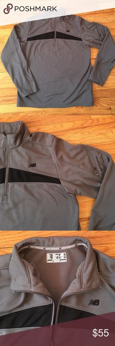 NWOT-NEW BALANCE men's performance jacket!!  NWOT fleece lined men's new balance sweat shirt with zipper pocket on sleeve! Perfect on your way into the gym or if you just wanna dress comfy for the day!! New Balance Jackets & Coats Performance Jackets