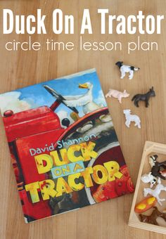 Duck On A Tractor - Circle Time Lesson Plan - No Time For Flash Cards - Fun farm activity for circle time at preschool that goes with David Shannon's book Duck on a Trac - Farm Animals Preschool, Farm Animal Crafts, Preschool Books, Preschool Themes, Farm Crafts, Preschool Curriculum, Homeschool, Daycare Themes, Preschool Music