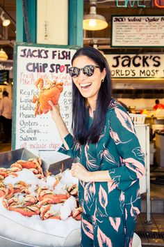 """The market is full of great, fresh produce and beautiful artisan stalls. I always get fresh crabmeat and veggies. Oh, and donuts. And visit the gum wall. It's cute, but gross."" http://www.thecoveteur.com/caroline-issa-nordstrom-seattle/"