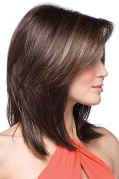 Medium Length Hairstyles Layered Haircuts With Bangs 2018 Natural Hair Wigs, Natural Hair Styles, Medium Hair Styles, Short Hair Styles, Hair Quality, Layered Haircuts, Layered Hairstyle, Short Haircuts, Shoulder Length Hair