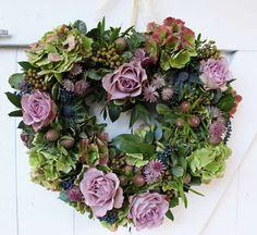 Bridal flowers - heart wreath - Bury Court Barn