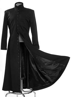 2019 The Matrix Cosplay Customised Black Cosplay Costume Neo Trench Coat Only Coat womens mens girls boys unisex Cos clothing Dark Fashion, Gothic Fashion, Mens Fashion, Fashion Outfits, Costume Matrix, Cos Dresses, Gothic Coat, Gothic Men, Dark Gothic