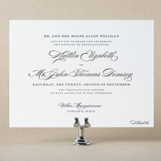 Deveril Wedding Invitation Design