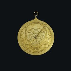 A large brass astrolabe, Melchior Tavernier, 1632 Renaissance Jewelry, Natural History, 17th Century, Archaeology, Science Nature, Astronomy, Pocket Watch, Objects, Brass