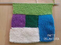 Apuros de una tejedora compulsiva: Tutorial: Hacer un Log Cabin de punto Freeform Crochet, Crochet Granny, Crochet Motif, Knit Crochet, Knitting Designs, Knitting Projects, Knitting Patterns, Easy Knitting, Knitting Stitches