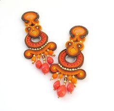 Long Clip-On Earrings Chandelier Earrings от GiSoutacheJewelry