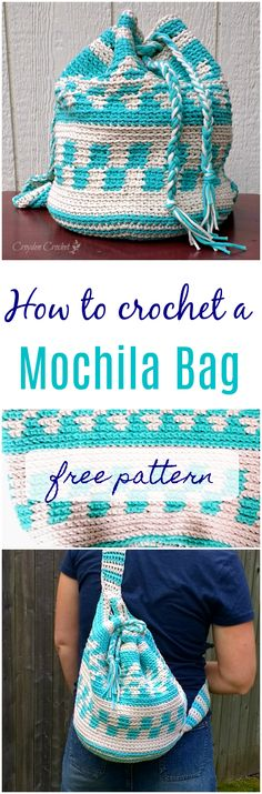 How to crochet a Mochila bag