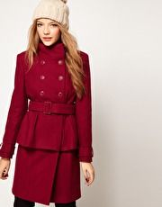 Peplum Coat With Belt at ASOS $59.81 (sale)