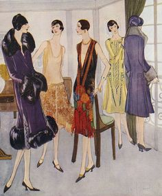 1920s Fashion 1925 1920s Uk Womens Drawing The Advertising Archives.