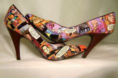 Star Trek Comic Book Shoes! www.alwaysunique.etsy.com  make it so!