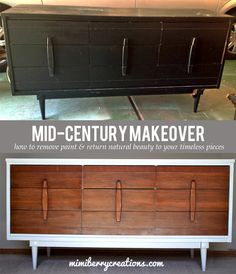 New mid century furniture makeover stains ideas Refurbished Furniture, Repurposed Furniture, Furniture Makeover, Dresser Makeovers, Mid Century Modern Dresser, Mid Century Modern Furniture, Classic Furniture, Furniture Decor, Urban Furniture