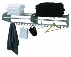 Ex-Cell Kaiser 707-72A Wall Mounted Coat Hat Rack by Ex-Cell Kaiser. $117.11. Uniquely designed brackets taper as they extend forward with smooth, round edges. Satin finish, all aluminum construction is durable, light weight and corrosion resistant. 72 in.. Top shelf allows for air flow to help prevent the formation of mites or molds frequently found in enclosed areas. Extend 15 in. from the wall and the steel brackets are 11.75 in. tall at their highest point against...