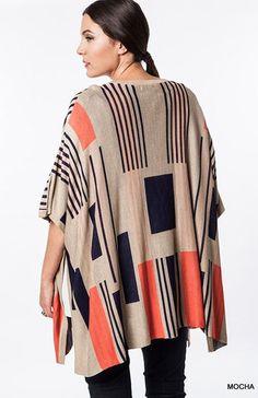 Graphic Design Knit Kimono Cardigan-Plus Size-Umgee – Debra's Passion Boutique