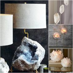 #mini #moodboard #lighting #verlichting #lights #lamp #lampen #minerals #mineralen #steen #koraal #nature #productofnature #natuurproduct #week29-2016 www.leemwonen.nl