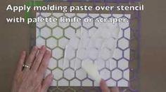Gelli printing with molding paste texture. Gelli Arts - YouTube