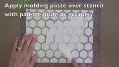 Gelli printing with molding paste texture. Gelli Arts - YouTube