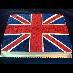 Union Jack Cake - frosting rather than fondant
