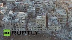 لقطات صادمة طائرات بدون طيار تصور الدمار الهائل في دمشق - http://mtm.am/g4820