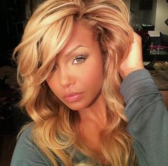 Her hair color with her complexion is gorgeous
