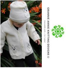 Toddler's Cardigan and Hat