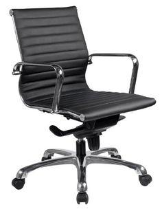 Executive Mid Back Chair with Chrome Frame |