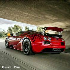 """""""Meet HellBug!  Photo by @iamted7 #Bugatti #Veyron #Supersport #HellBug #LorRouge"""""""