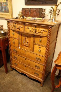 Carved Oak Dresser