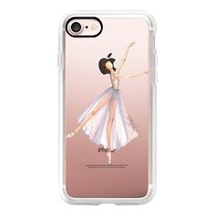 Ballet Dancer 1 (Fashion Illustration Transparent Case) - iPhone 7... ($40) ❤ liked on Polyvore featuring accessories, tech accessories, iphone case, iphone cases, iphone cover case, apple iphone case, iphone hard case and transparent iphone case