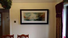 Alison Johnson Original Abstract Landscape Painting - Client Interior Shot